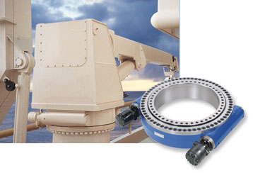 This functional but elegant twin worm Slew Drive, is ideally suited for the slewing gear of a yacht crane.
